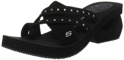Skechers Women's Cyclers Gleamers Mule Black UK 7,US 10