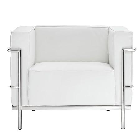 Charles Le Corbusier LC2 Grande White Club ArmChair