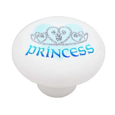 Princess Tiara Crown High Gloss Ceramic Drawer Knob (Princess Crown Drawer Knobs compare prices)