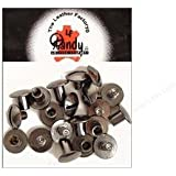 "Tandy Leather 1/4"" Black Chicago Screws 10 Pack 1290-04"