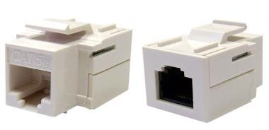 CAT5E, RJ45 Inline Keystone Coupler, White Color