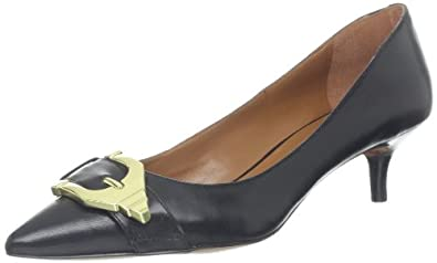 Nine West Women's Iri Pump,Black Leather,5 M US