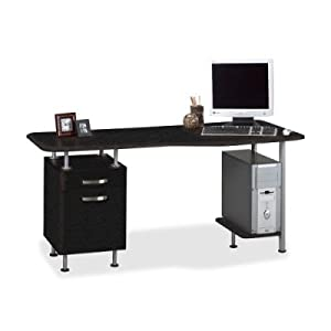Compact Box/File Desk Computer Workstation