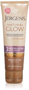 Jergens Natural Glow  3 Days to Glow Moisturizer Medium