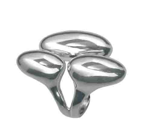 Sterling Silver Three Oval Shaped Ring From the GEA Collection By Mauricio Serrano Jewelry