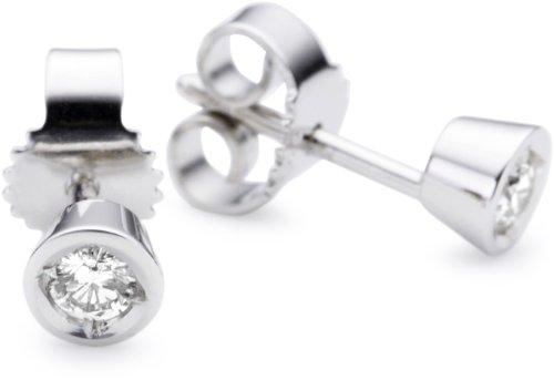 Imagen principal de Bella Donna Ohrstecker 634879 - Pendientes de mujer de oro blanco (14k) con 2 diamantes
