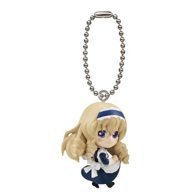 "Bandai IS Infinite Stratos II Gashapon Swing Mascot Key Chain Figure ~1.5"" - Cecilia Alcott"