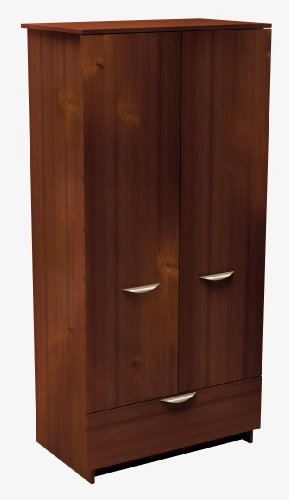 Nexera Nocce Armoire With Drawer, Truffle front-502286