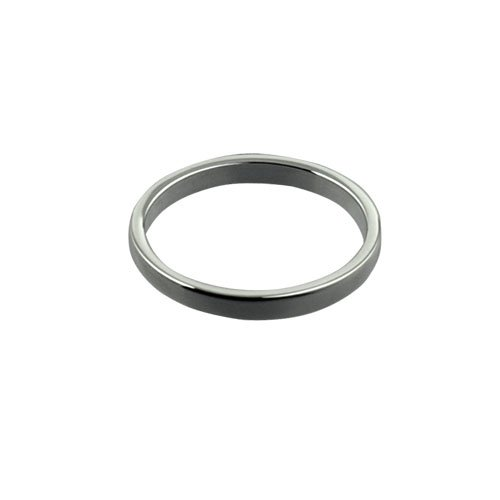 9ct White Gold 2mm plain Flat Wedding Ring Sizes I to P