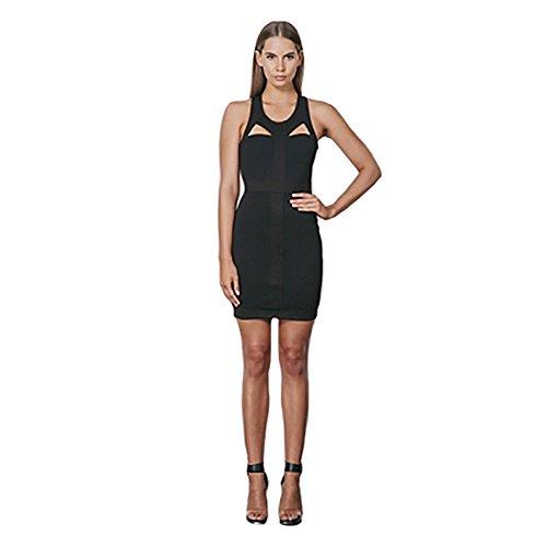 Keepsake Have It All Cutout Little Black Dress Large Black
