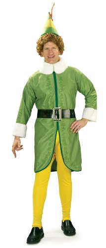 Elf Movie Buddy The Elf Costume, Green, Standard Size