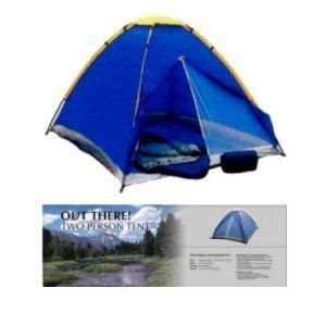 Monodome 2 man tent by Out There. Easy to assemble. Ideal for camping hiking and festivals
