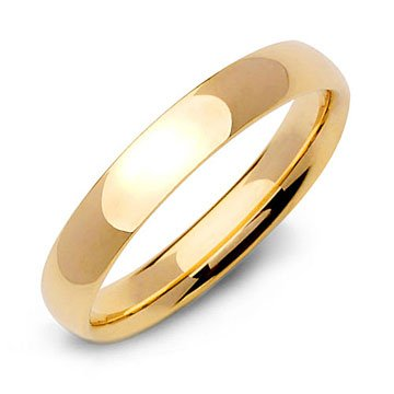 Comfort Fit Wedding Band Ring in 14k Yellow Gold (4mm)