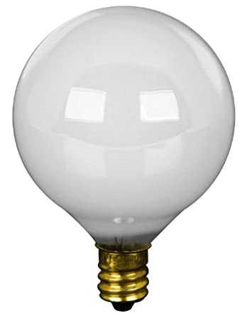 Feit Electric BP25G16-1/2W 25 Watt White Long Life Vanity Globe Light Bulb 2 Count - - Amazon.com