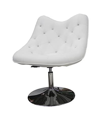 Whiteline Sandy Faux Leather Chair, White