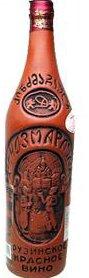 グルジアワイン キンズマラウリ (赤) Kindzmarauli 750ml 陶器ボトル