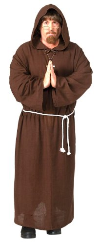 Friar Tuck Deluxe Hooded Monk Robe Costume
