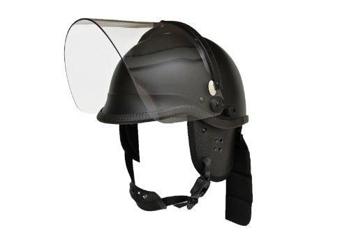暴徒鎮圧部隊 POICEタイプ バイザー付 ヘルメット レプリカ マットブラック 黒