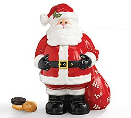 Large Santa With Toy Bag Cookie Jar Adorable Holiday Decor For Christmas Goodies