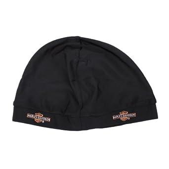 Skull Cap - Long Bar & Shield - Black - Harley Davidson Men's