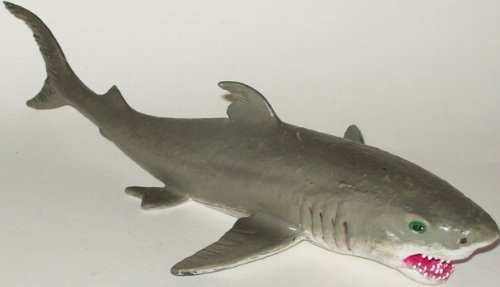 "Phil Seltzer Rubber Great White Shark Ocean Predator, 10"" - 1"