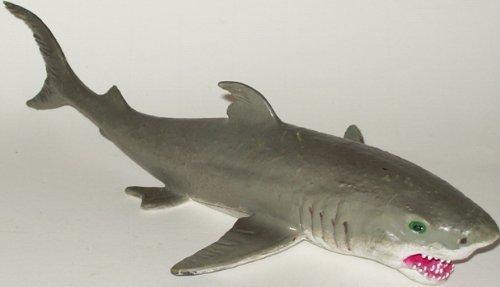 """Phil Seltzer Rubber Great White Shark Ocean Predator, 10"""""""