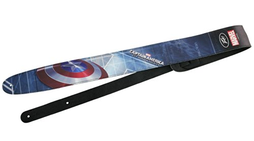 Peavey 3023530 Captain American 2 Leather Guitar Strap (Peavey Marvel Guitar Strap compare prices)