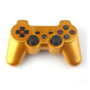 6 AXIS DualShock 3 Wireless Controller for PS3 Playstation 3 Gold Sold by Maxwell Global Trading