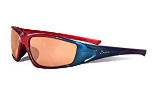 MLB Atlanta Braves Viper Sunglasses with Bag, Red and Blue, Adult by Maxx