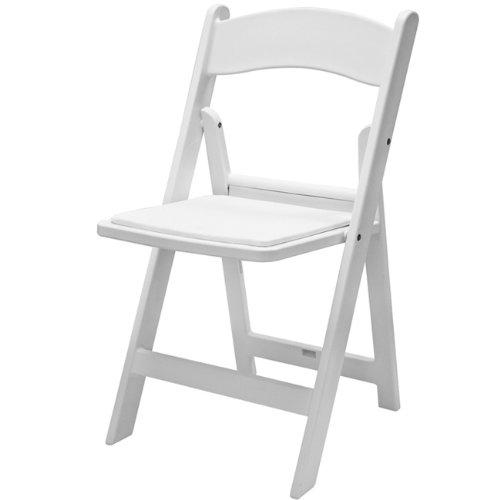 White Resin Folding Chair 8349