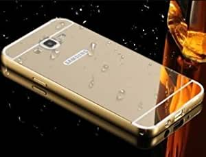 Luxury Metal Bumper + Acrylic Mirror Back Cover Case For Samsung Galaxy ON7 -