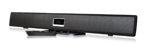 Ematic Esb210 Ultra-Slim 2.1 Channel Wireless Soundbar With Bluetooth And Led Display (Black)