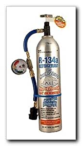 R134a with SubZero Synthetic A/C Booster, Reusable Recharge Hose and Inline Gauge, 19 oz. (345)