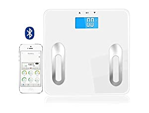 Blueberry Digital Bluetooth Body Fat Scale W 400 Lb Capacity Smart Wireless