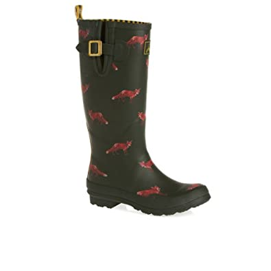 Joules Wellyprint Wellington Boots - Green Fox