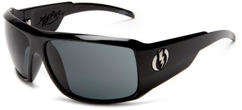Electric Visual Kb1 Wrap Sunglasses,Gloss Black Frame/Grey Lens,One Size