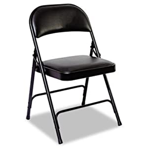 ALEFC96B - Steel Folding Chair With Padded Back/Seat