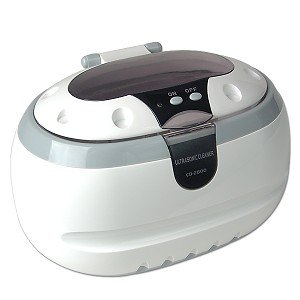 Sonic Wave Ultrasonic Jewelry Cleaner Cleaning Machine CD-2800 (White/Gray)