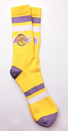 Stance Lakers Crew Socks L-XL (9-13) by Stance