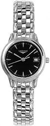 Longines Flagship Black Dial Ladies Watch L42164526