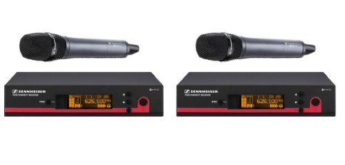 Sennheiser Bundle Of 2 Ew Wireless Handheld Mic Systems, Ew135 G3 A (516-558 Mhz) True Diversity Rack Mount Wireless Microphone System