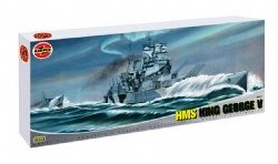 Airfix A08203 1:400 Scale HMS King George V Warship Classic Kit Series 8