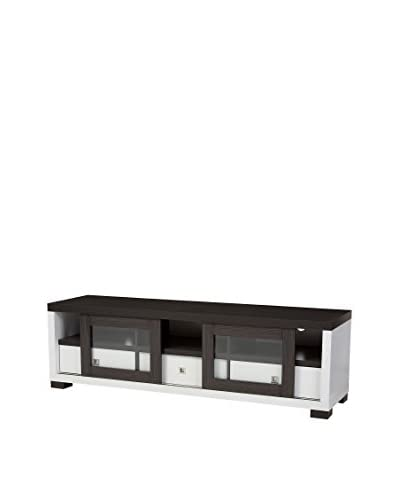 Baxton Studio Oxley Modern Entertainment TV Cabinet  [Dark Brown/White]
