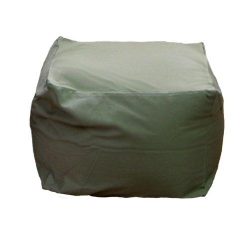 Cushion アースカラーキューブチェア M size green PCM-5512T