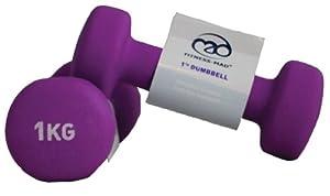 Neoprene Dumbbells Pink (0.5kg) 1kg Pair - Ex930