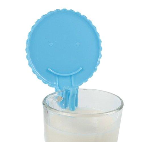 BestCool Wasserleck Silikonkautschuk Becher Deckel Schöne Kreative Ungiftiges Silikon Universaldeckel Deckel Spitze - Blau Blue