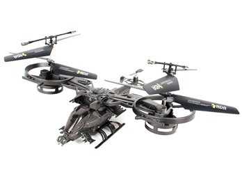 2.4G 4-channel ABS RC Avatar Fighter Helicopter (Gray)