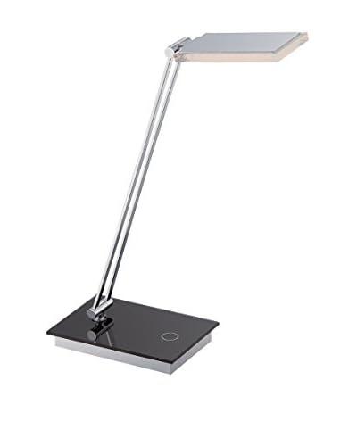 Lite Source Luke II LED Table Lamp, Black/Chrome