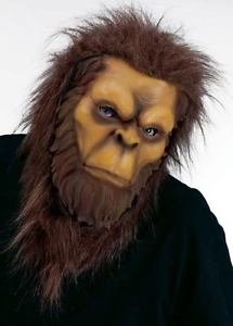 [Mens Adult Ferocious Fangs Big Foot Yeti Forest Man Gorilla Costume Mask] (Lake Forest Halloween Costumes)