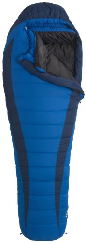 Marmot Sawtooth Sleeping Bag: 15 Degree Down Electric/Tempest, Long/Left Zip